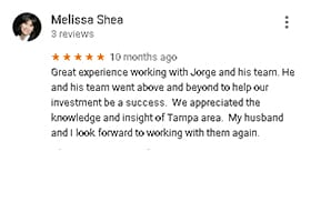 Google Reviews by Melissa Shea