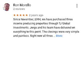 Google Review by Ron Morello